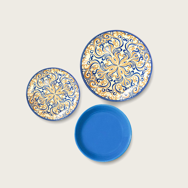 Servizio 18 piatti - i coordinati - Blue