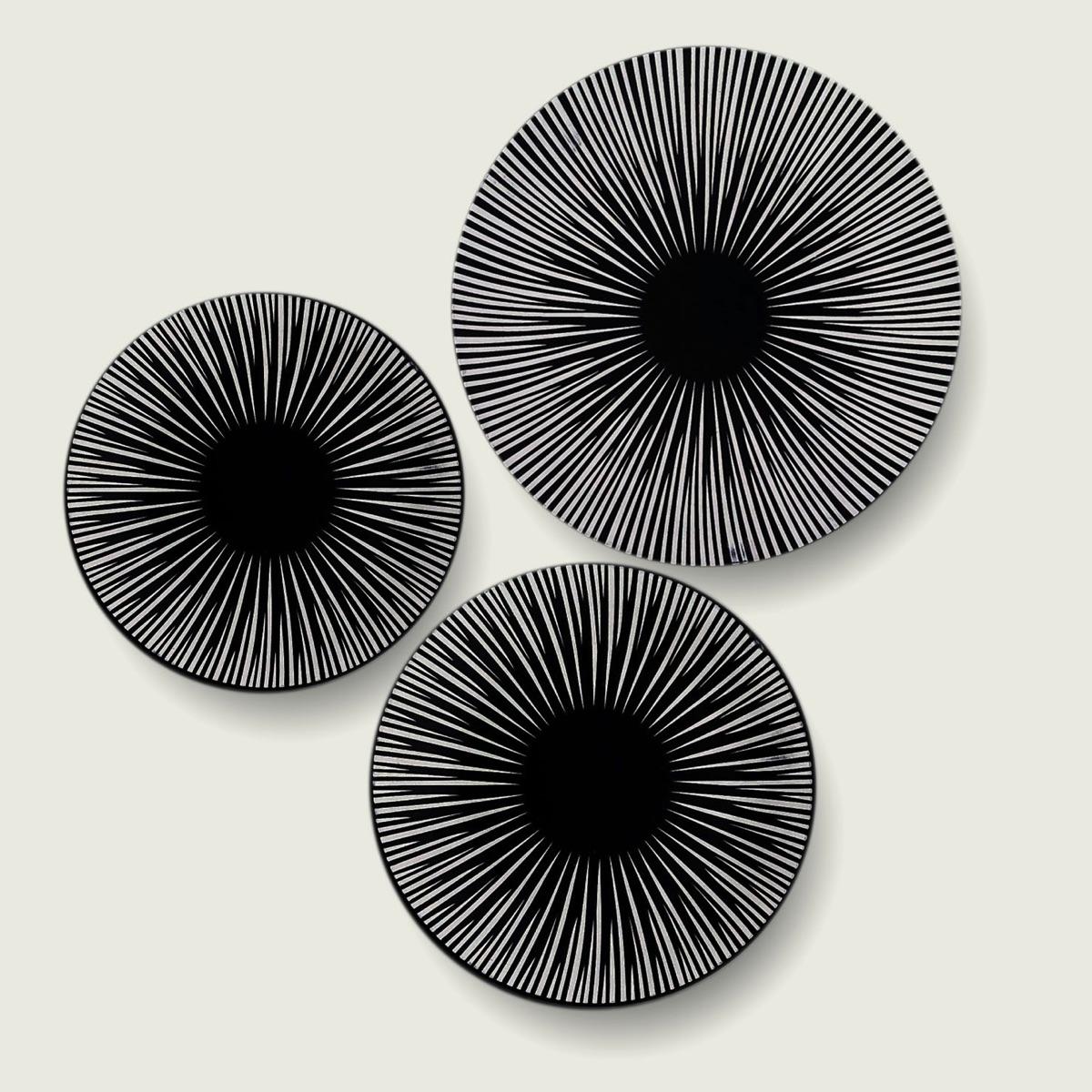 Set 18 piatti cuerda seca black