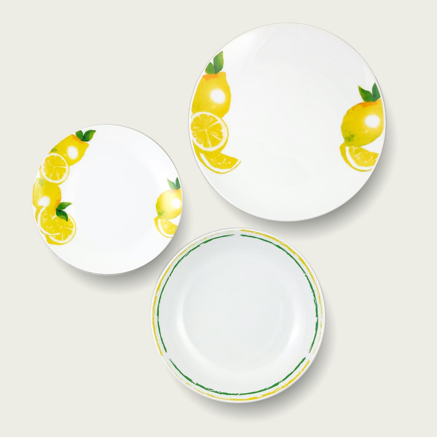 Servizio 18 piatti fruit Lemon