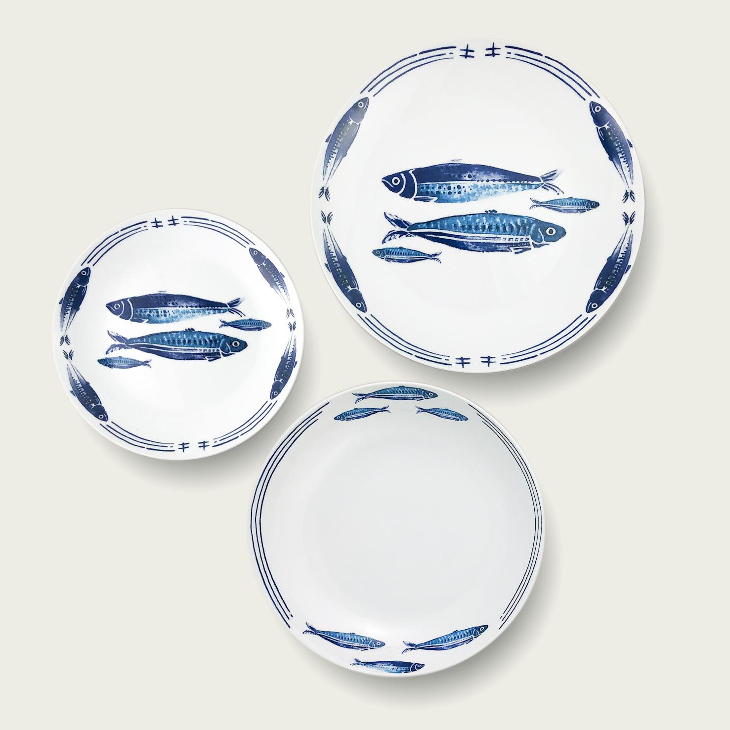 Servizio 18 piatti - ocean line - Blue Fish