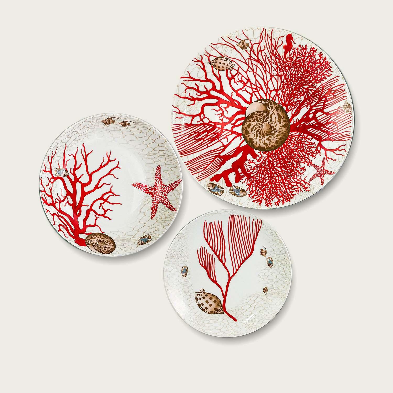 Tris piatti - Coral