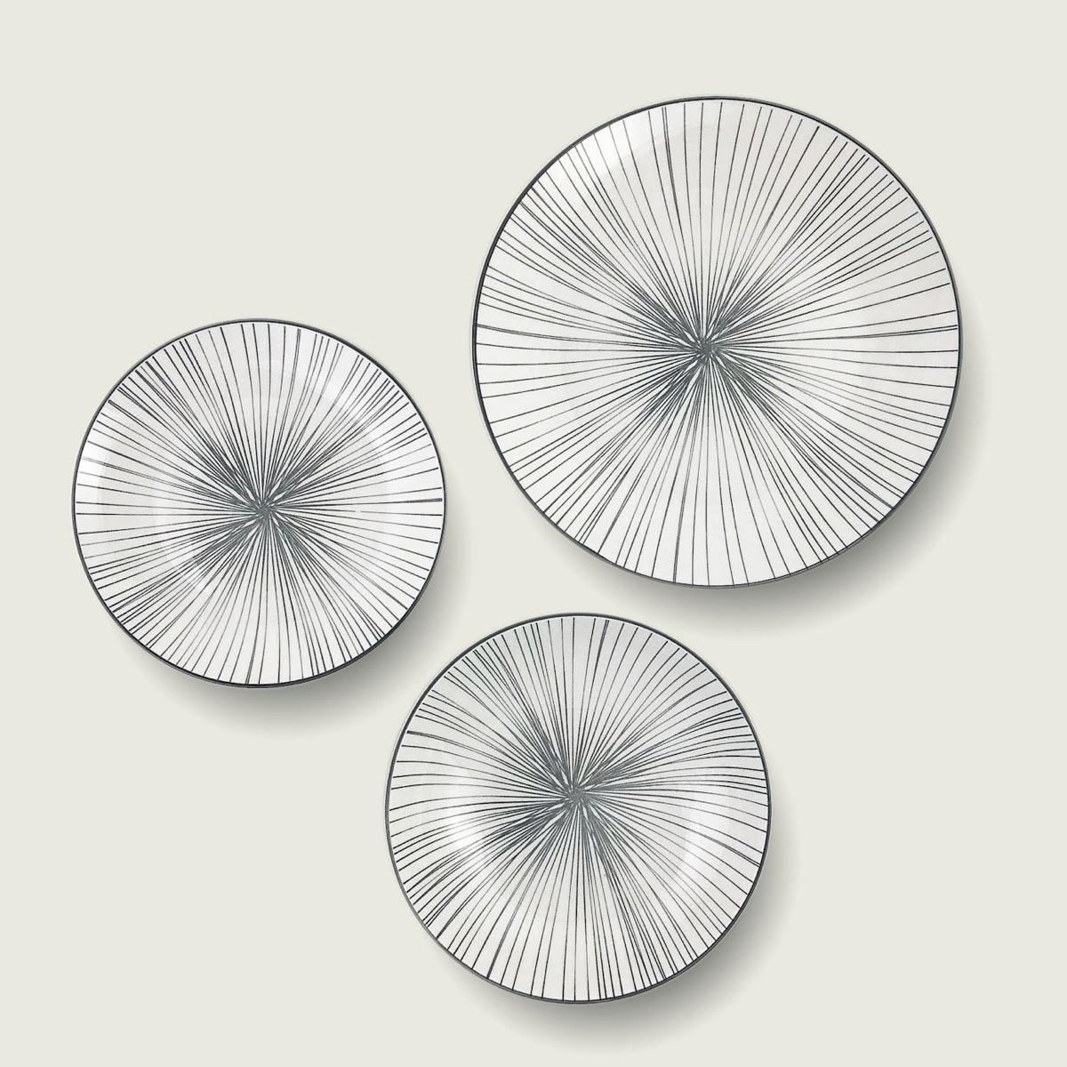 Kyoto piatto in porcellana - decoro grey 1