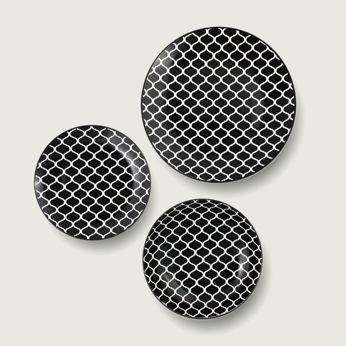 Kyoto piatto in porcellana - decoro black 1