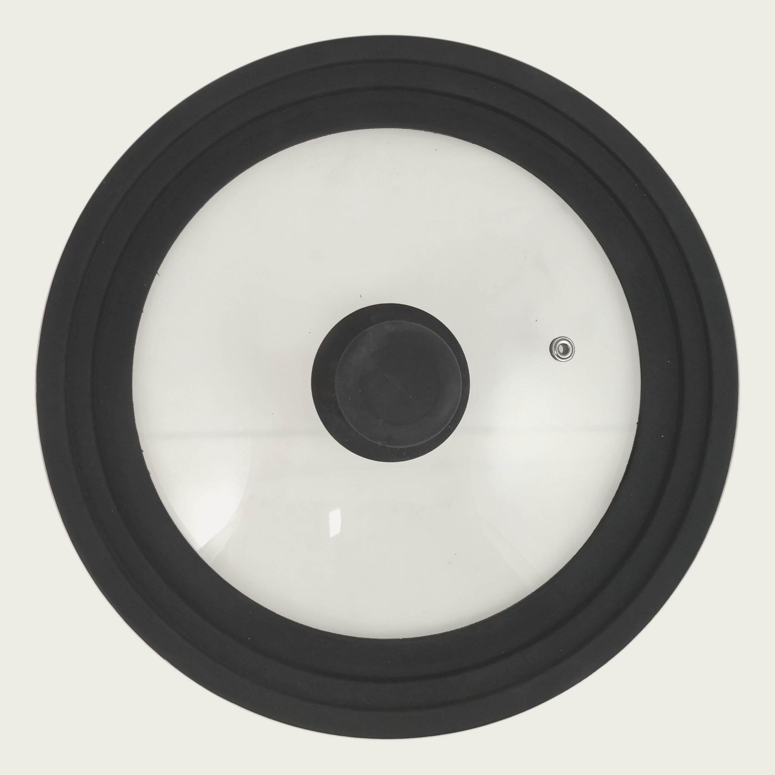 Coperchio universale infrangibile in vetro-silicone grigio