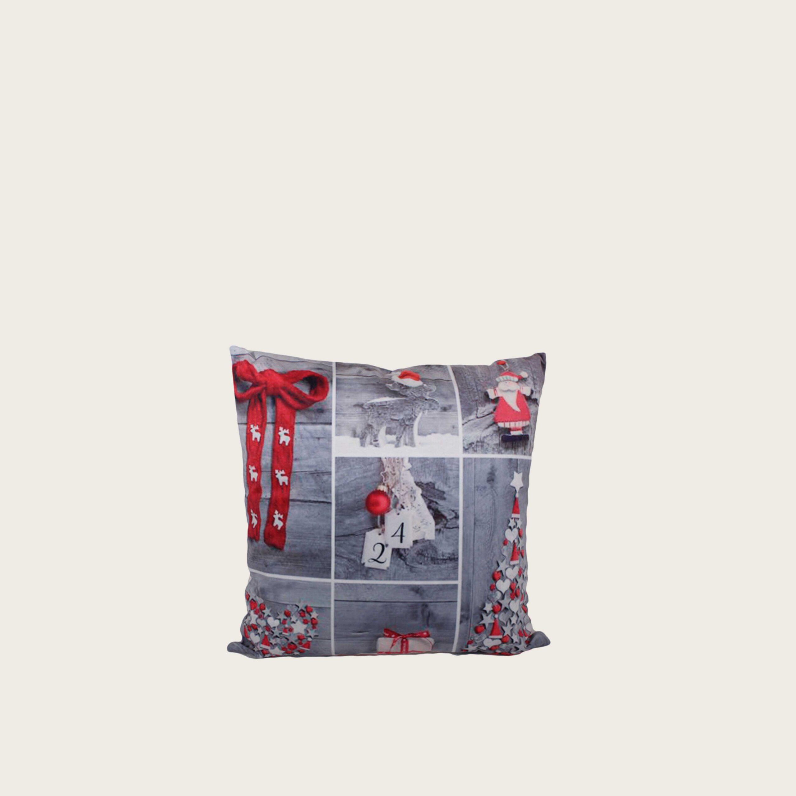 Cuscino - fiocco rosso