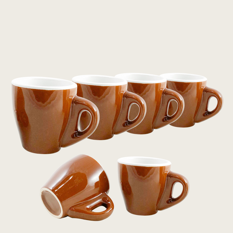 Set 6 tazzine da caffè marrone