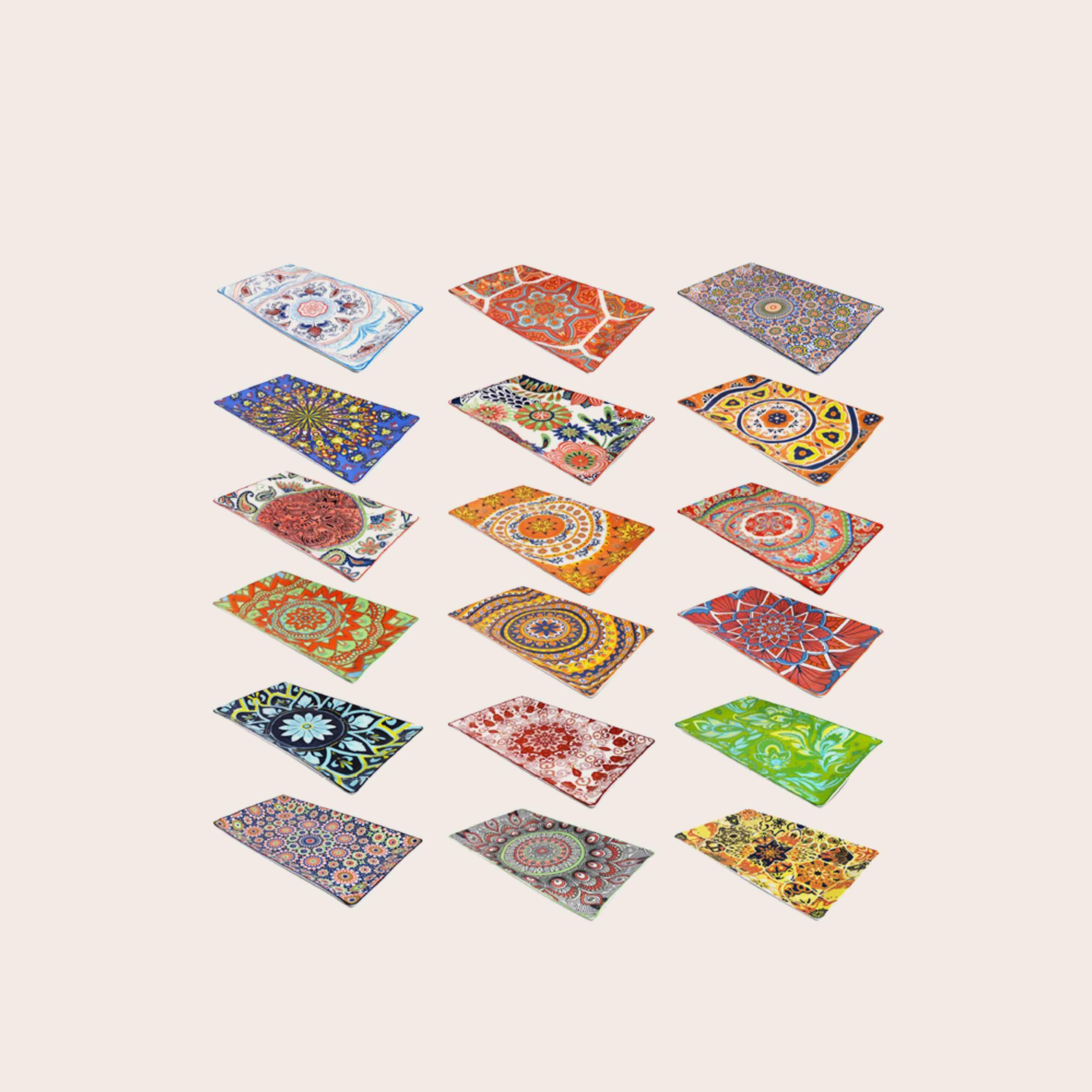 Kyoto vassoio rettangolare in porcellana