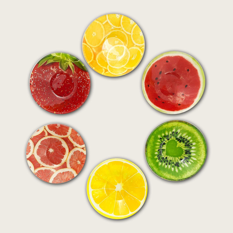 Ciotola in vetro cm.15x15 - fantasia frutta