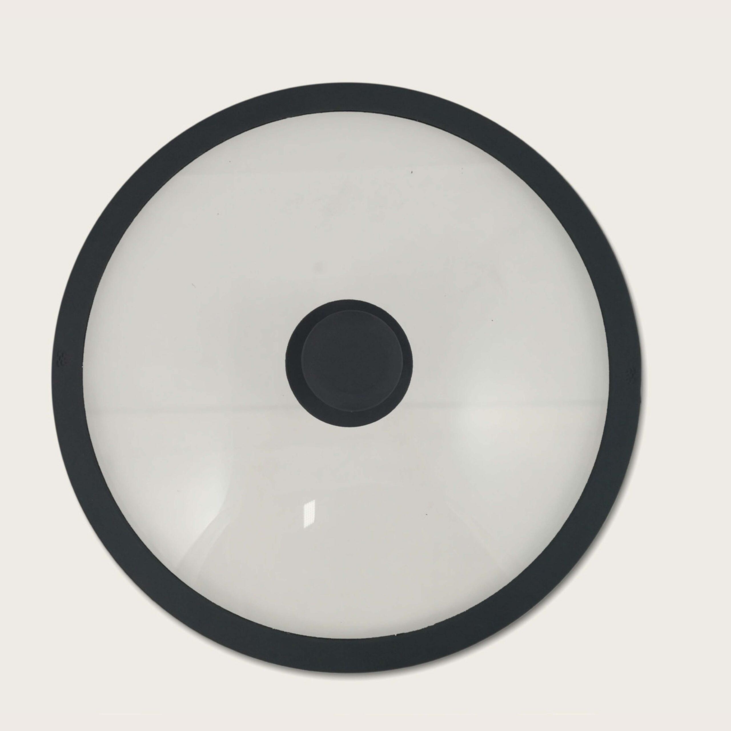 Coperchio infrangibile in vetro-silicone grigio