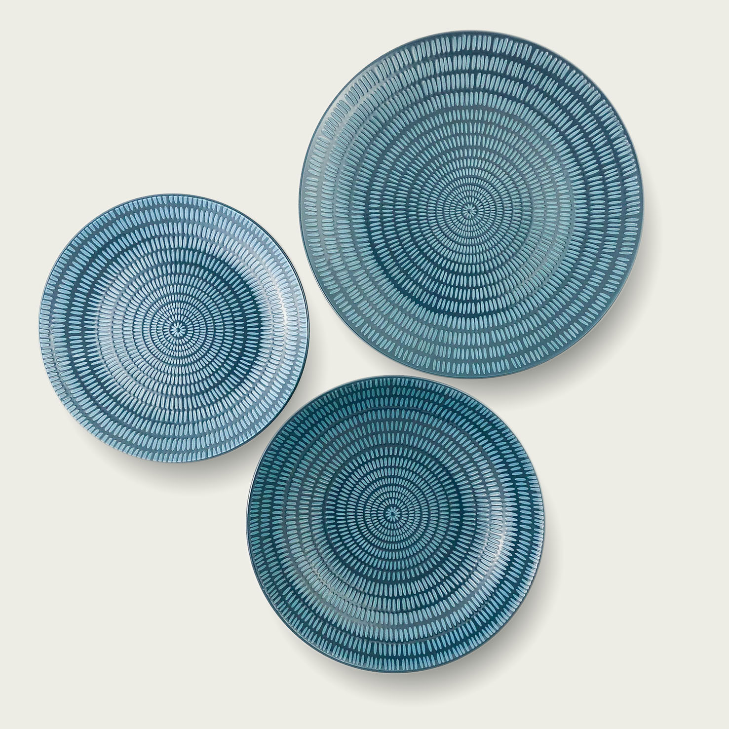 Servizio 18 piatti - cuerda seca ethinc chic-blu scuro