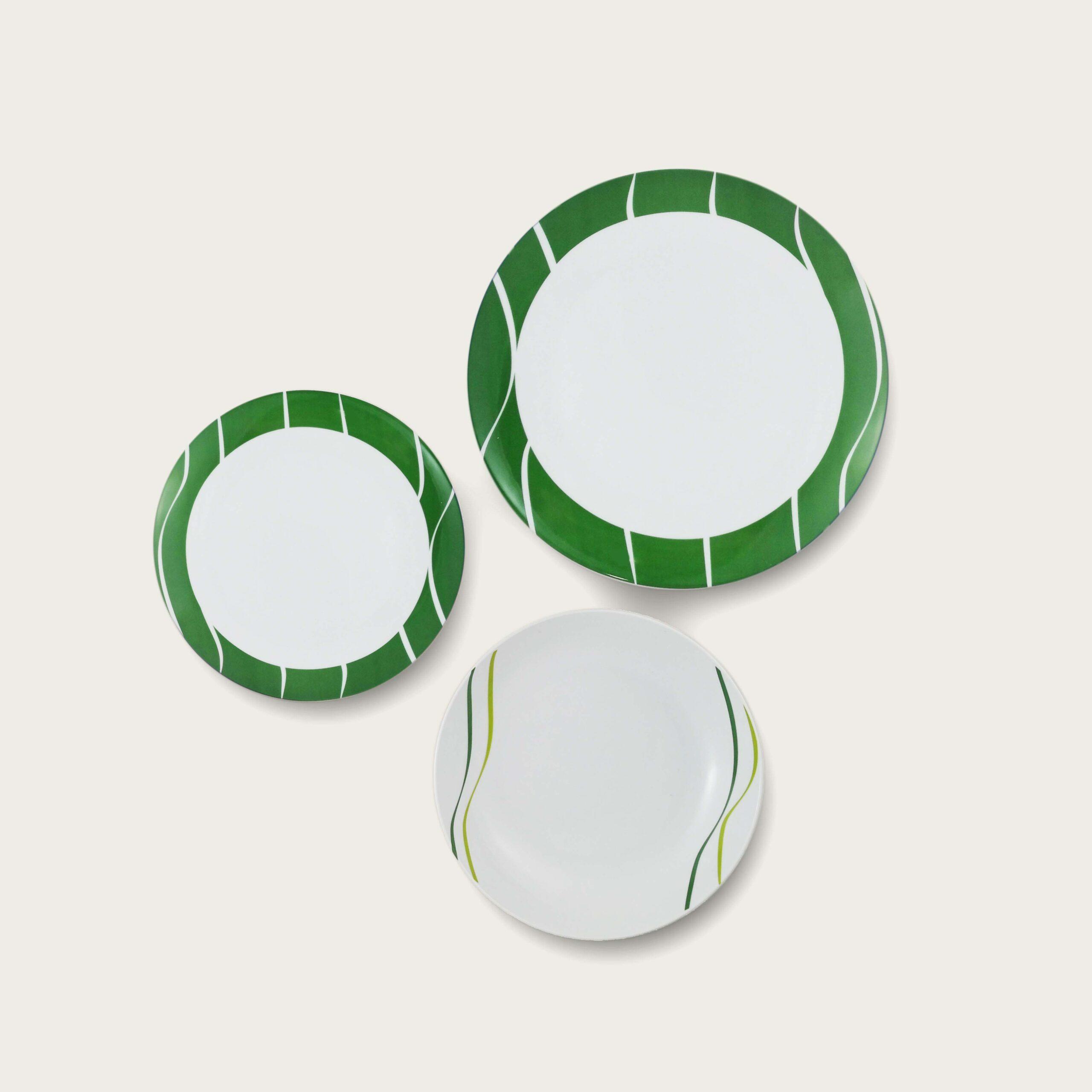 Servizio 12 piatti - linea margot - verde