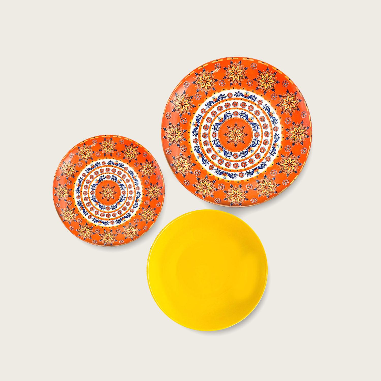 Servizio 18 piatti - i coordinati in porcellana - yellow