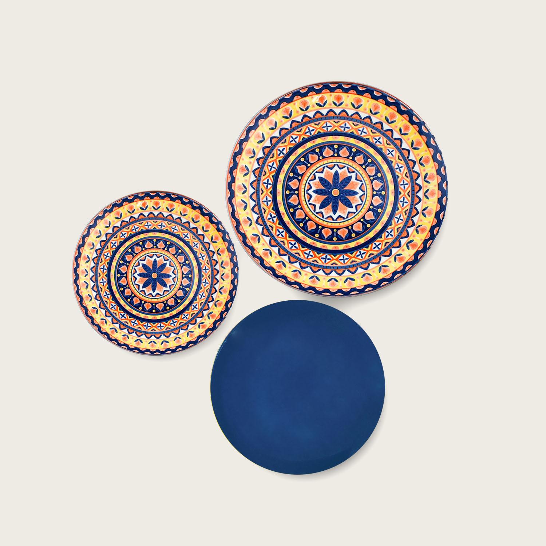 Servizio 18 piatti - i coordinati in porcellana - dark blue