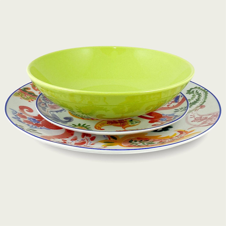 Set piatti 18 pezzi - i coordinati in porcellana - verde
