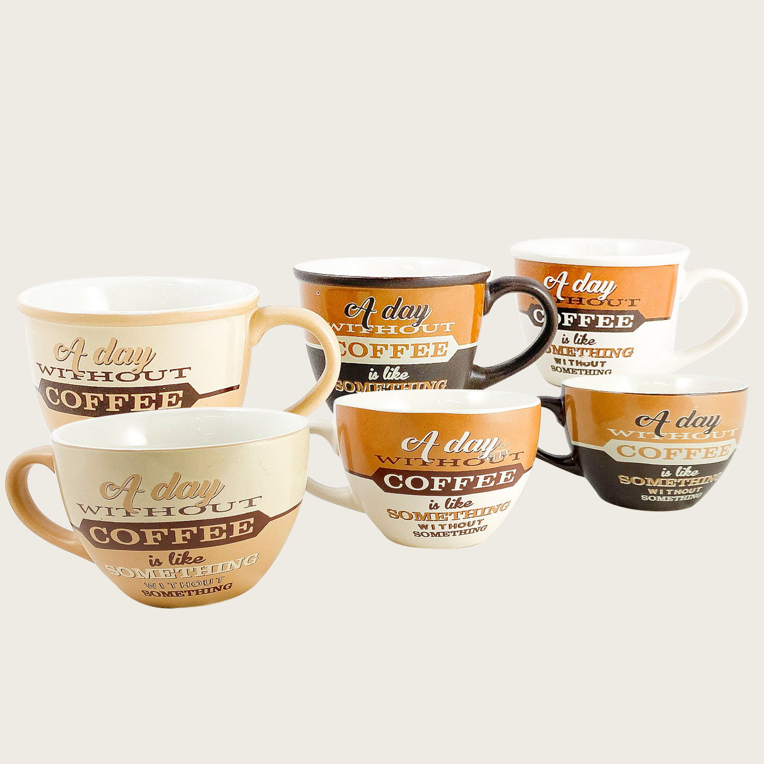 SET 4 TAZZE CAFFE' IN CERAMICA 10cl